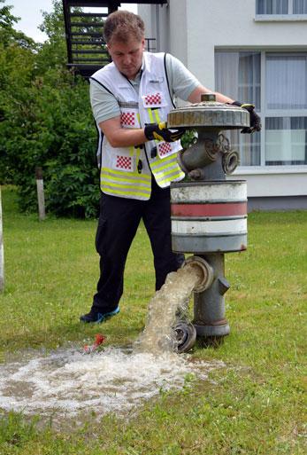 Hydrantenfunktionstest mit Dirk Trümner
